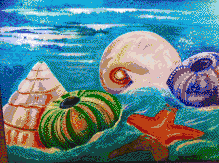 Swirling Sea Shells - Mosaic Art