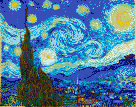 Starry Night (Van Gogh) - Mosaic Art