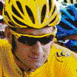 Bradley Wiggins winner of the Tour De France 2012 - Mosaic Art