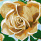 Fairy Rose (Apricot) - Mosaic Art