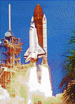 Launch of Atlantis Space Shuttle - Mosaic Art