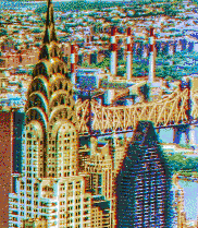 Chrysler Building from the Empire State - Mosaic Art