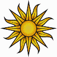 Sun (on white) - Mosaic Art