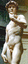 Michelangelo's David - Mosaic Art