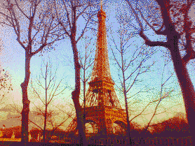 Eiffel Sunset - Mosaic Art