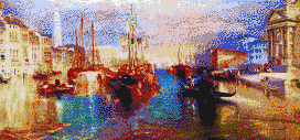 The Grand Canal, Venice (Turner) - Mosaic Art