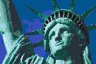 Statue of Liberty (Face) - Mosaic Art