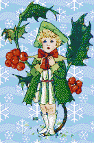 Holly Girl - Mosaic Art