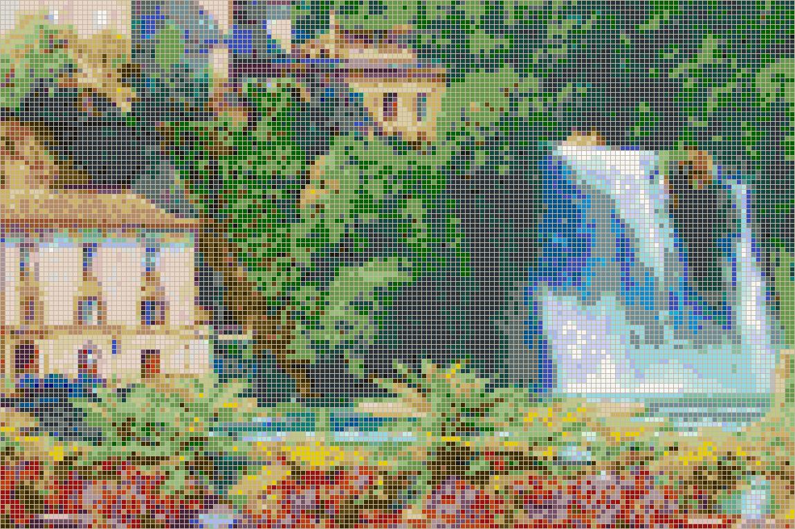 Italian Waterfall Isola Liri Mosaic Tile Art