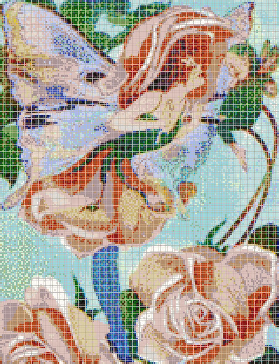 Rose Flower Fairy Mosaic Tile Art