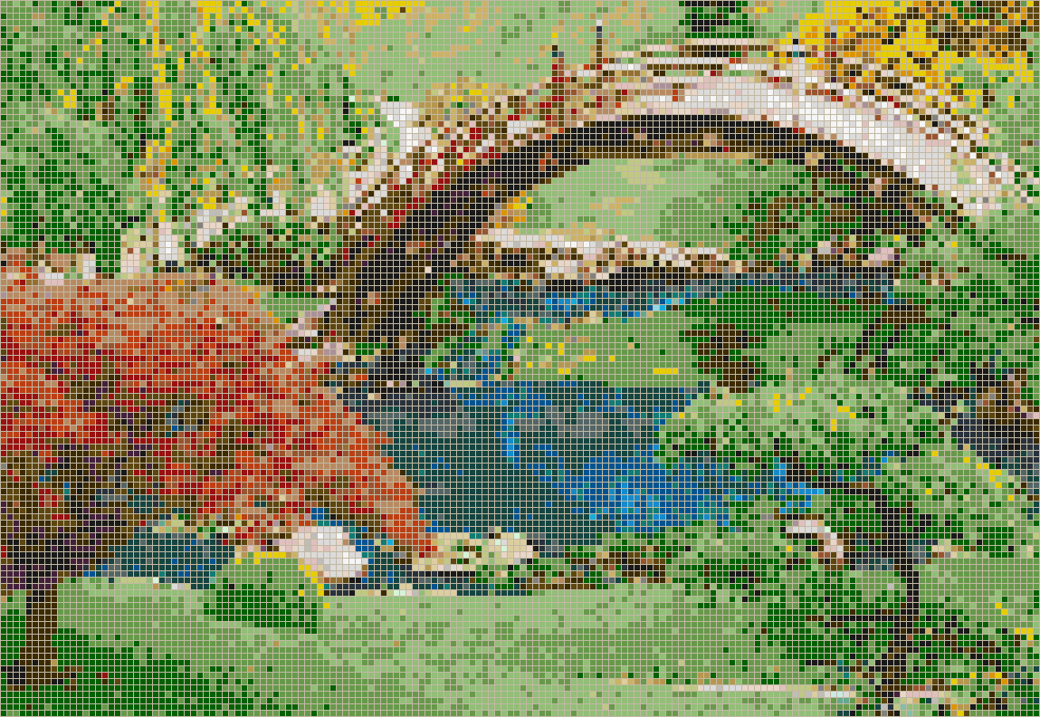 Japanese garden mosaic tile art Mosaic tile wall designs
