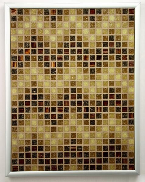 Sepia ZigZags Mosaic Accent