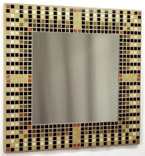 Egyptian Brown 38cm Mosaic Mirror
