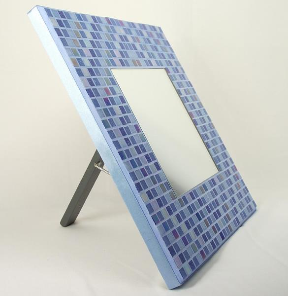 Winter Diamonds 29cm Mosaic Mirror with Stand