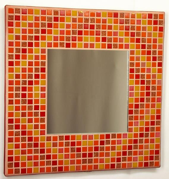 Autumn Diamonds 29cm Mosaic Mirror