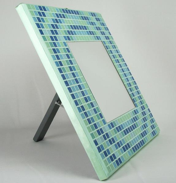 Concentric Glas 29cm Mosaic Mirror with Stand