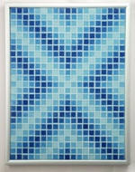 Aqueous Arrows Mosaic Accent